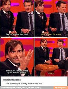 Lol david tennant and matt smith