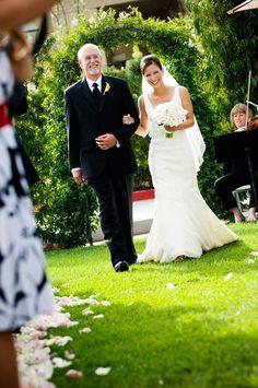 Wedding Lawn: Bride with Father