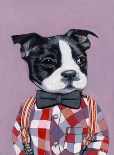Charlie - A Dog in Clothes - Fine Art Giclee Print