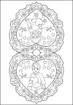 Image detail for -Free Coloring Pages: Vintage Valentines * Vintage inspiration Unique Coloring Pages, Wedding Coloring Pages, Spring Coloring Pages, Valentine Coloring Pages, Free Coloring Pages, Coloring Books, Vintage Valentines, Kids Valentines, Colorful Pictures