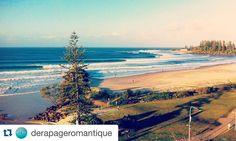 #Repost @derapageromantique with @repostapp.  Eh Cooli!!! Thank you again you're unforgettable // Coolangatta Gold Coast Queensland Australia. : @iphone  #coolangatta #snapperrocks #greenmount #kirra #superbank #goldcoast #queensland #australia #wave #surf #sirfing #ocean #beach #trip #travel by coolangattaphotos