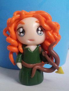 Princess Merida chibi doll polymer clay disney
