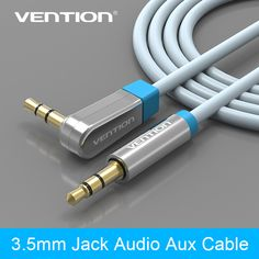 Vention 3.5mm 90 Degree Right Angle headphone cable audio aux cables male to male digital cables jack 3.5 for Iphone 4 5 6 S
