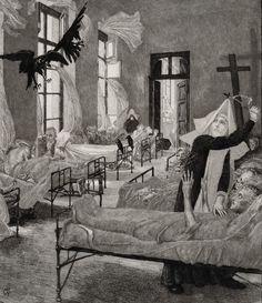 """The Plague"" by Max Klinger"