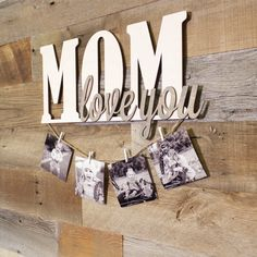 Special Gifts For Mom, Diy Gifts For Mom, Diy Mothers Day Gifts, Wood Letter Crafts, Wood Letters, I Love You Mother, Mothers Day Signs, Mother Birthday Gifts, Mom Day