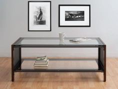 Calico Designs Modern Glass Coffee Table 56005