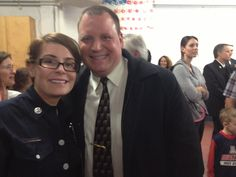 Hanging with Corinne at her Badge Ceremony