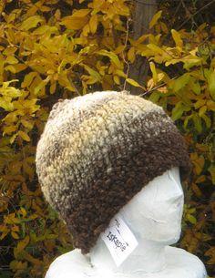 fishing ski hunt hand spun 100% wool beanie hat natural plant dyes hand knit L  #iskapie #Beanie