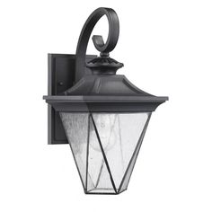 This transitional outdoor wall sconce features a clear beveled glass and a black finish that will compliment many outdoor decors. This one-light sconce will lend a classic look to your outdoor space while lending weatherproof illumination.