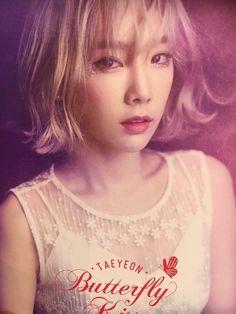 160709 Taeyeon's First Solo Concert 'Butterfly Kiss' poster SNSD Taeyeon Taeyeon Jessica, Kim Hyoyeon, Sooyoung, Yoona, Snsd, Girls' Generation Taeyeon, Girls Generation, South Korean Girls, Korean Girl Groups