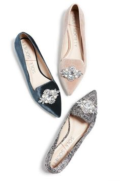 Jeweled flats in navy paisley, blue velvet and pink velvet. Pair these shoes wit… Jeweled flats in navy paisley, blue velvet and pink velvet. Pair these shoes with dresses, denim and more! Pretty Shoes, Beautiful Shoes, Crazy Shoes, Me Too Shoes, Mode Shoes, Zapatos Shoes, Shoe Closet, Wedding Shoes, Fashion Shoes