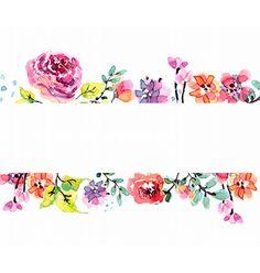 Watercolor floral frame vector by Elmiko on VectorStock®