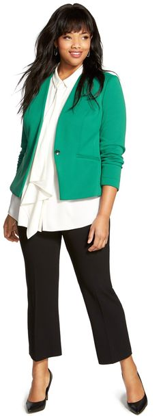 71be33eb0 Plus Size Jacket More Fall Professional Outfits