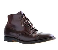 Your shoes should be clean and polished. Get inspired by these Alden for J. Crew cap toe boots. They will look great with jeans and a blazer.