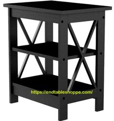 Black End Tables, End Tables With Drawers, Small End Tables, Wood End Tables, End Tables With Storage, Wood Table, Solid Pine, Solid Wood, Mission Style End Tables