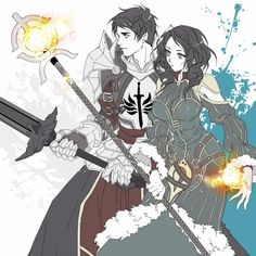 Dragon Age - Carver & Bethany //  they look so awesome in this style!!!