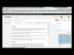 How to Use Blogger Posts, Pages and Tabs - YouTube