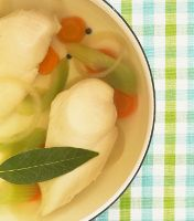 """How to Poach Chicken Breasts (for recipes that call for """"cooked, cubed chicken"""" when you don't have any cooked chicken. Have also ready that you can sub chicken broth for water. Will skip the veggies for the recipe I'm making n' use broth instead.)"""