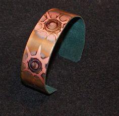 Copper  cuff bracelet heat oxidized neutral color cuff by Dawily, $18.00