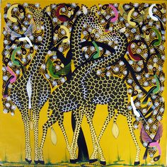 african art canvas paintings - Buscar con Google