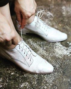 CP 35785 DERBY SHOES /Soft Calf , Geisha White #christianpeau