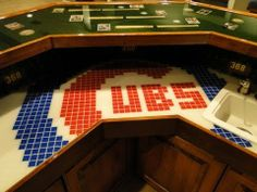 Chicago Cubs Theme Home Sports Bar Project
