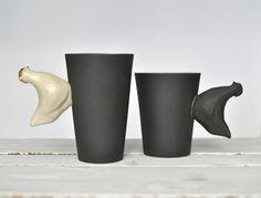Kubek z Kurą - coco_ceramics - Kubki i filiżanki
