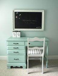 cool ideas for paris themed bedroom for preteens - this would be great for homework but I would def have it different colors