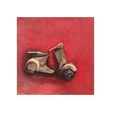 """Vespa"" oil on canvas 30 x 30 by Margarita Peppa."