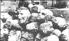 1915. Victims of Armenian Genocide in which 1.5 million men,women and children were massacred. Some were beheaded and some women were even crucified. How horribly atrocious.