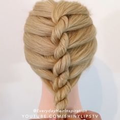 Amazing Braid By: @everydayhairinspiration Easy Hairstyles For Long Hair, Fancy Hairstyles, Girl Hairstyles, Braided Hairstyles Tutorials, Hairstyles 2018, Hair Up Styles, Medium Hair Styles, Long Hair Video, Toddler Hair