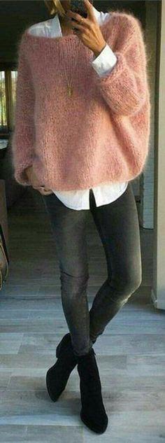Winter Fashion Outfits, Pink Fashion, Trendy Fashion, Winter Outfits, Autumn Fashion, Womens Fashion, Winter Dresses, Fashion Clothes, Dress Winter