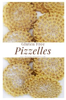 All you need is a pizzelle iron and a few simple ingredients and you're on your way to making a gluten free version of these classic Italian waffle cookies. Gluten Free Waffles, Gluten Free Cookies, Gluten Free Baking, Gluten Free Desserts, Gluten Free Recipes, Gourmet Recipes, Gluten Free Pizzelles Recipe, Gf Recipes, Krumkake Recipe