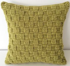 Handmade Accent Pillow Crochet Cushion Cover by TheKnottyHome