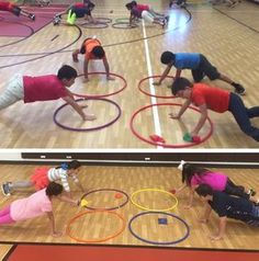 PE teacher Kash Aleem shares his fun and challenging activity called Four Square Hula Hoop!
