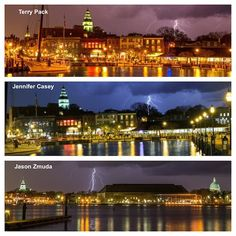 3 photographers capture same exact lightning bolt in Annapolis without knowing it