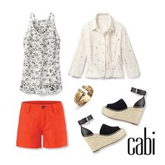 Cabi's soon to be released Alexa Shorts will be here in just time for Spring Break! They look great with the Terrace Cami, Portrait Jacket and Seahorse Cuff.