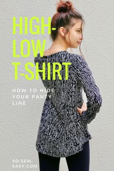 FREE high-low t-shirt Pattern and Tutorial
