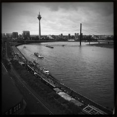Rhine from above #düsseldorf #bw