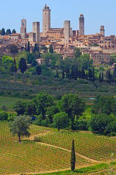 San Gimignano, Tuscany, Italy, Siena Province, Europe