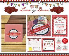kit de arroz y libro de firmas personalizado con un toque flamenco