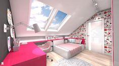 Wystrój wnętrz - Pokój dziecka dla dziewczynki - pomysły na aranżacje. Projekty… Small Room Bedroom, Bedroom Loft, Girls Bedroom, Study Room Decor, Organisation Hacks, Girl Bedroom Designs, Baby Room, Toddler Bed, House
