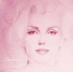 Marilyn M by ~Shishkina on deviantART [pencil drawing enhanced with Photoshop] | This image first pinned to Marilyn Monroe Art board, here: http://pinterest.com/fairbanksgrafix/marilyn-monroe-art/ || #Art #MarilynMonroe