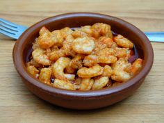 Gambas al Ajillo Spanish Tapas, Spanish Food, Lobster Recipes, Starters, Cauliflower, Shrimp, Seafood, Healthy Eating, Fish