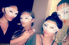 Belated bash: The Keeping Up with the Kardashians stunner spent the evening at a…