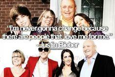 Never change Justin