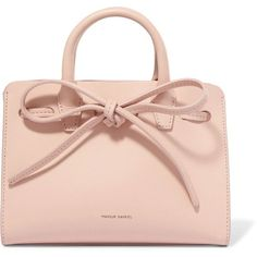 Mansur Gavriel Sun mini mini leather tote ($580) ❤ liked on Polyvore featuring bags, handbags, tote bags, purses, blush, pink leather tote, mansur gavriel tote, pink tote, mini tote and mini tote bags