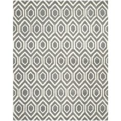 Safavieh Handmade Moroccan Chatham Dark Grey/ Ivory Wool Rug (6' x 9') TUFTED $215