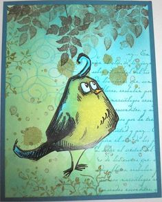 Action Wobble Bird by Nan Cee's - Cards and Paper Crafts at Splitcoaststampers