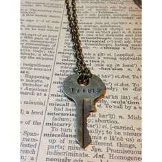 Steampunk Doctor Who Inspired TARDIS Key Necklace found on Polyvore